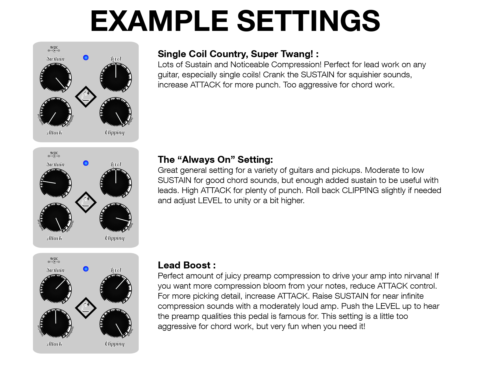 Keeley 4 knob compressor by robert keeley keeley compressor instructions manual card hexwebz Images