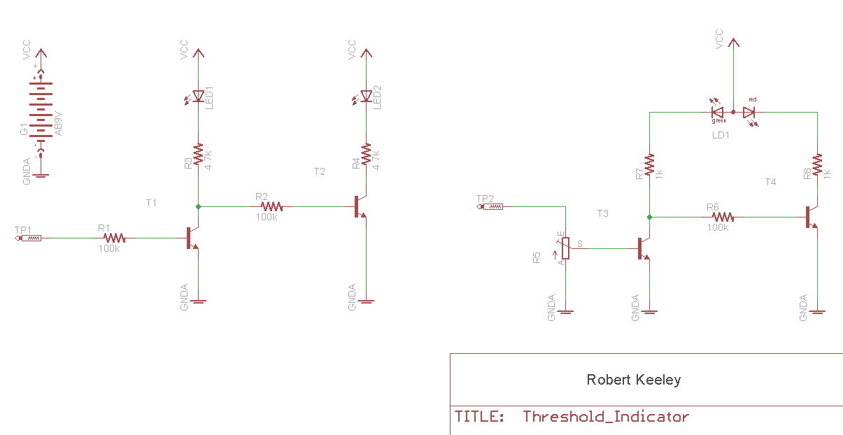 threshold led indicator circuit
