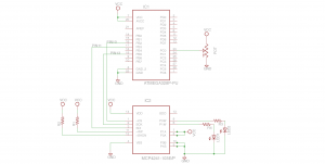 Analog pot read by ADC in Arduino. SPI to MCP4241 and set digipot value.