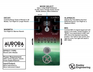 Keeley Aurora Reverb Instructions