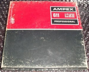 magnetic tape boxes ampex