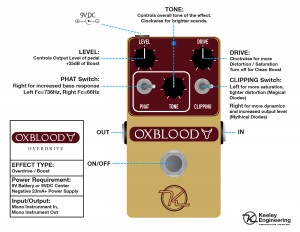 Keeley Oxblood Overdrive Instructions