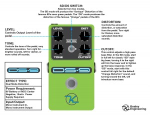 Keeley DS9 Distortion Instructions