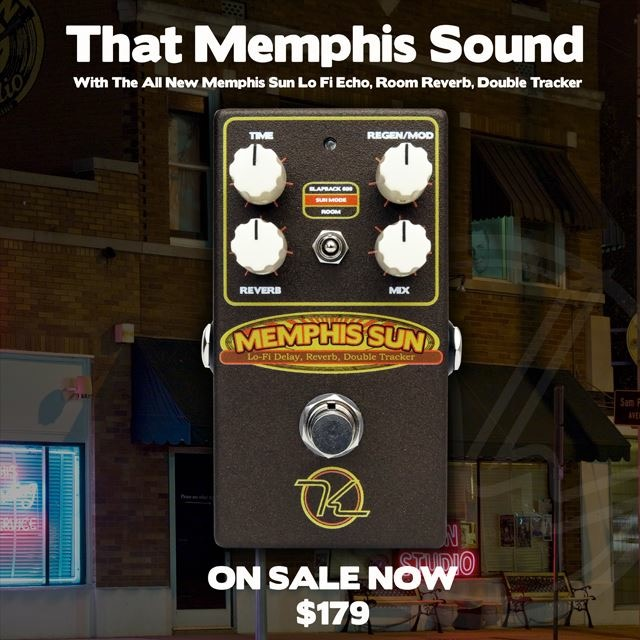 Keeley Electronics Memphis Sun Lo-Fi Reverb Echo and Double-Tracker Used