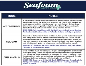 Keeley Seafoam Chorus Instructions Mode Descriptions