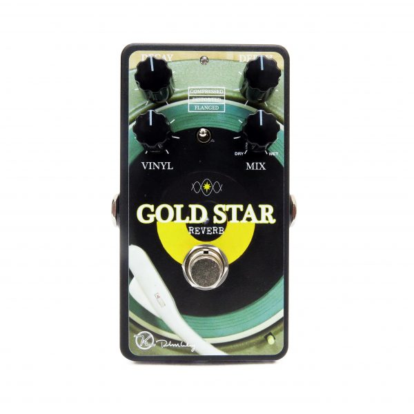 Keeley Limited Edition Gold Star Vinyl Reverb Face