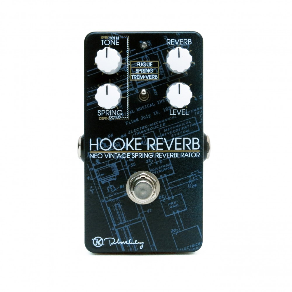 Keeley Electronics Hooke Reverb Neo Vintage Spring Reverberator Effects Pedal