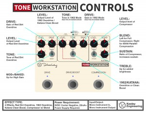 Keeley Tone Workstation Instruction Manual Card
