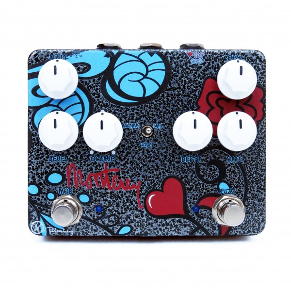 Keeley Monterey Rotary Fuzz Vibe Wah Workstation Black Face