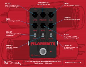Keeley Electronics Filaments Instructions