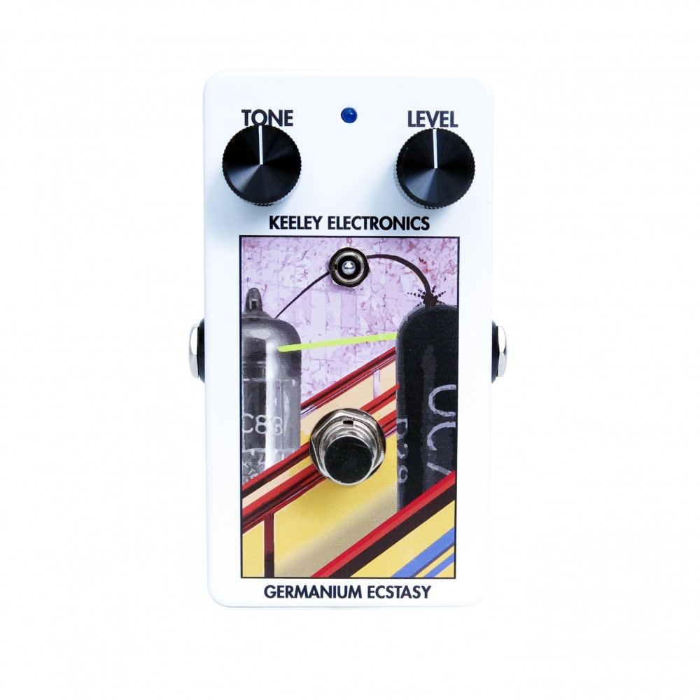 Germanium Ecstasy Treble Booster Face White Keeley