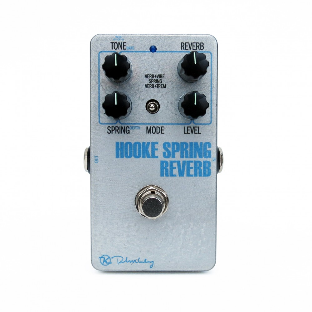 Hooke Spring Reverb Silver Face Face White