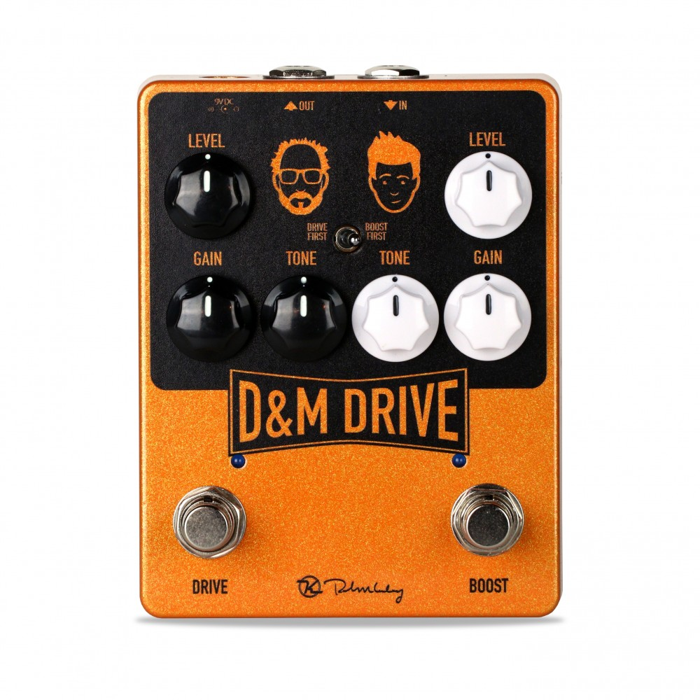 Keeley Electronics D&M Drive Boost Overdrive Pedal Front