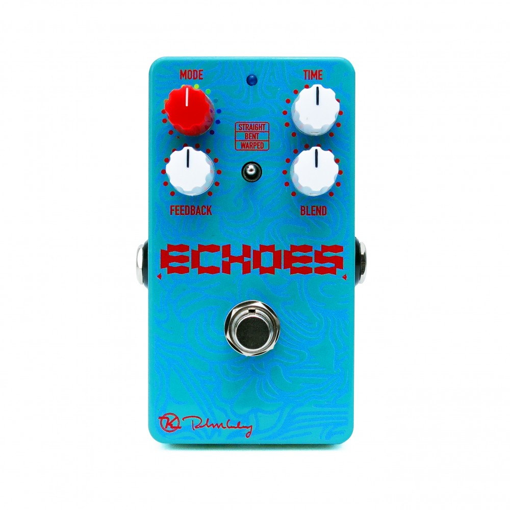 Echoes Delay Face White Keeley