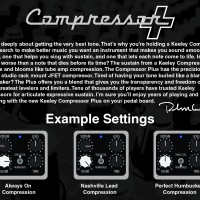 Keeley Compressor Plus Instructions Back