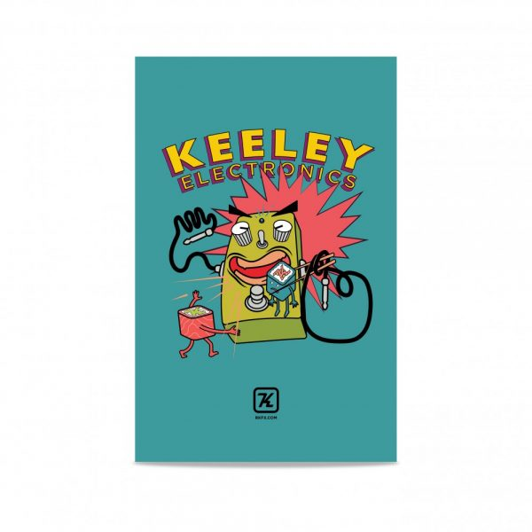 Keeley Electronics Blue Poster on White BG
