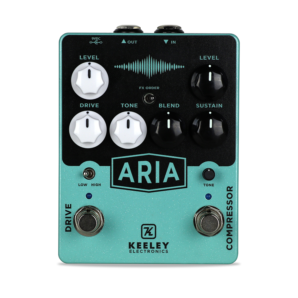 Keeley Electronics Aria Compressor Overdrive Pedal Front