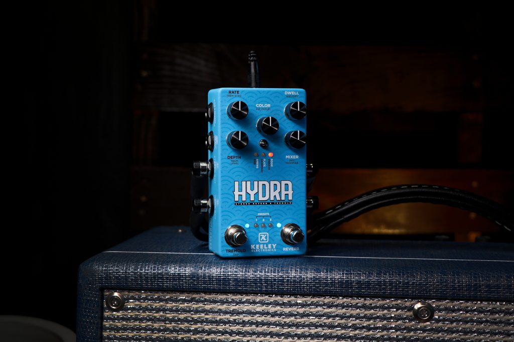 Keeley Electronics HYDRA Stereo Reverb & Tremolo Effect Pedal