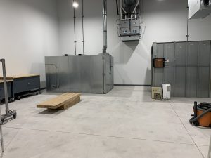 New Keeley Factory powder coating booth and oven